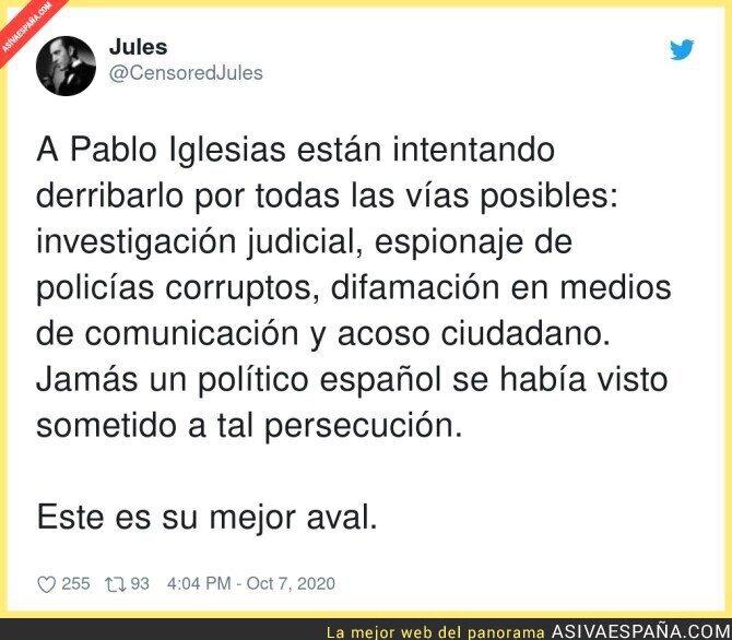 402449 - Tantos escándalos Pablo Iglesias y condenado cero veces