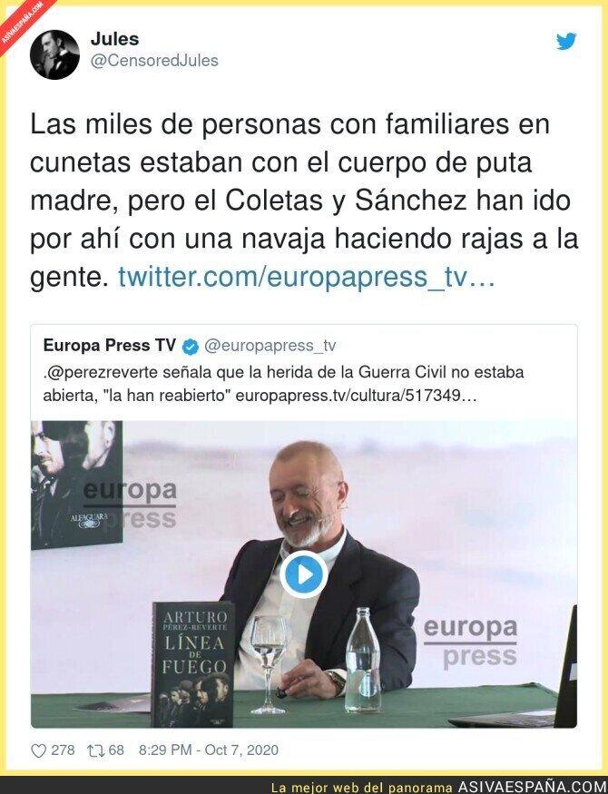 402850 - Arturo Pérez-Reverte no pierde oportunidad para demostrar su ideología