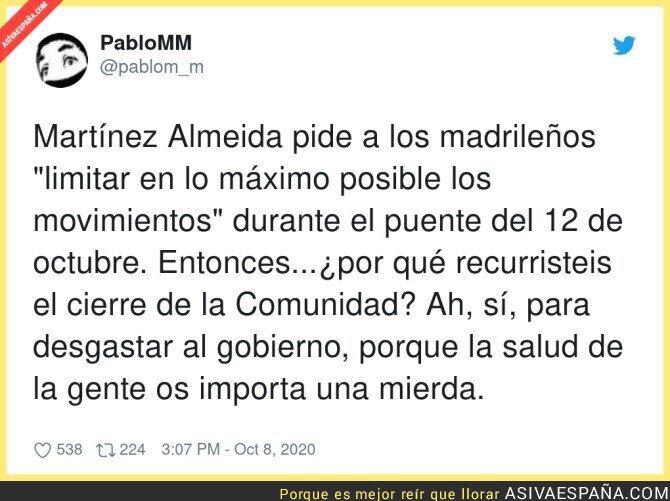 404039 - Es un sin sentido lo que está pasando en Madrid