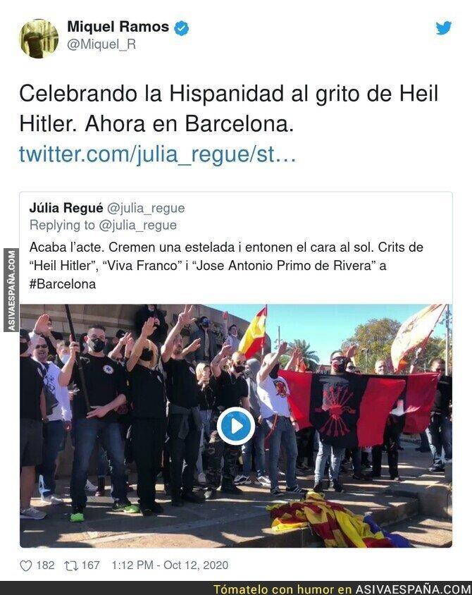411301 - No son españoles son facistas celebrando el genocidio de la raza inferior