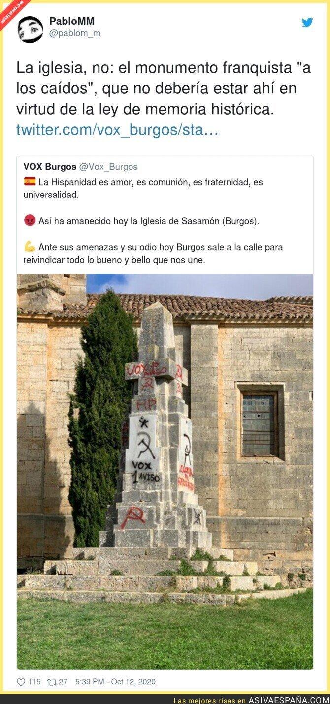 412017 - Las amenazas a VOX en símbolos franquistas