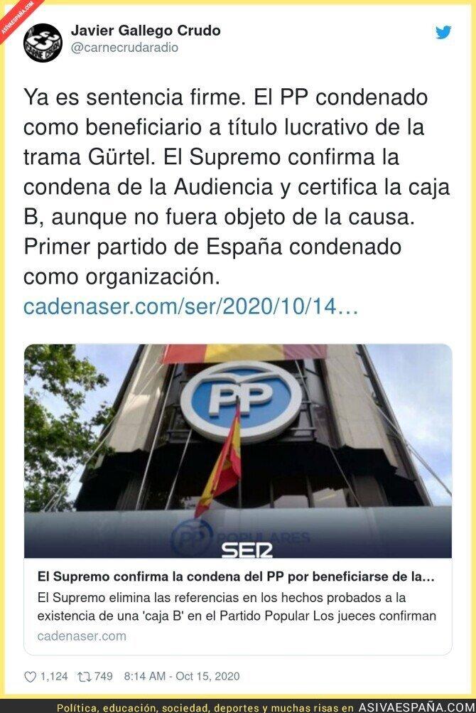 416427 - El PP es una organización criminal