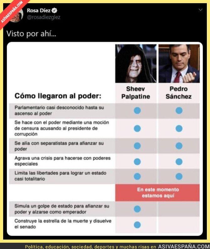 417562 - Rosa Díez compara a Palpatine con Pedro Sánchez