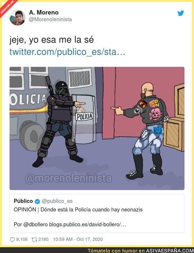 419555 - La policía cuando ven neonazis