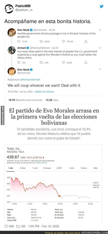 422208 - Elon Musk se lleva un gran revés tras las elecciones de Bolivia