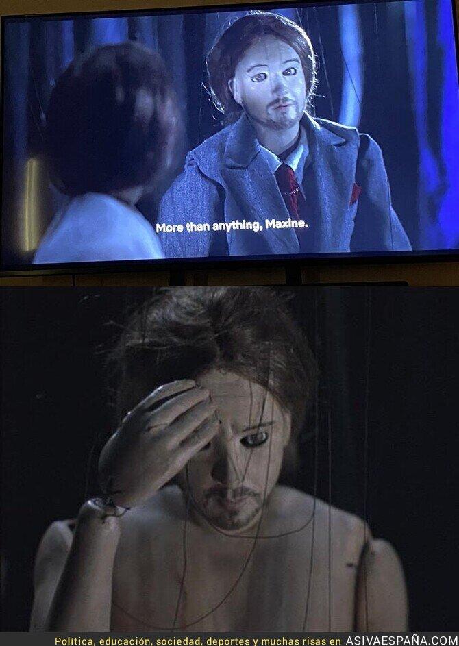 423371 - Cuando te das cuenta que sale Pablo Iglesias en una película de John Malkovich