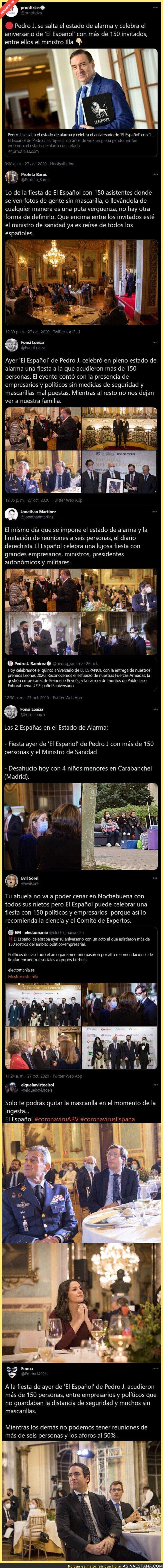 436623 - Escándalo monumental por la fiesta que ha montado 'El Español' con 150 invitados entre ellos el ministro Illa y muchos sin mascarilla