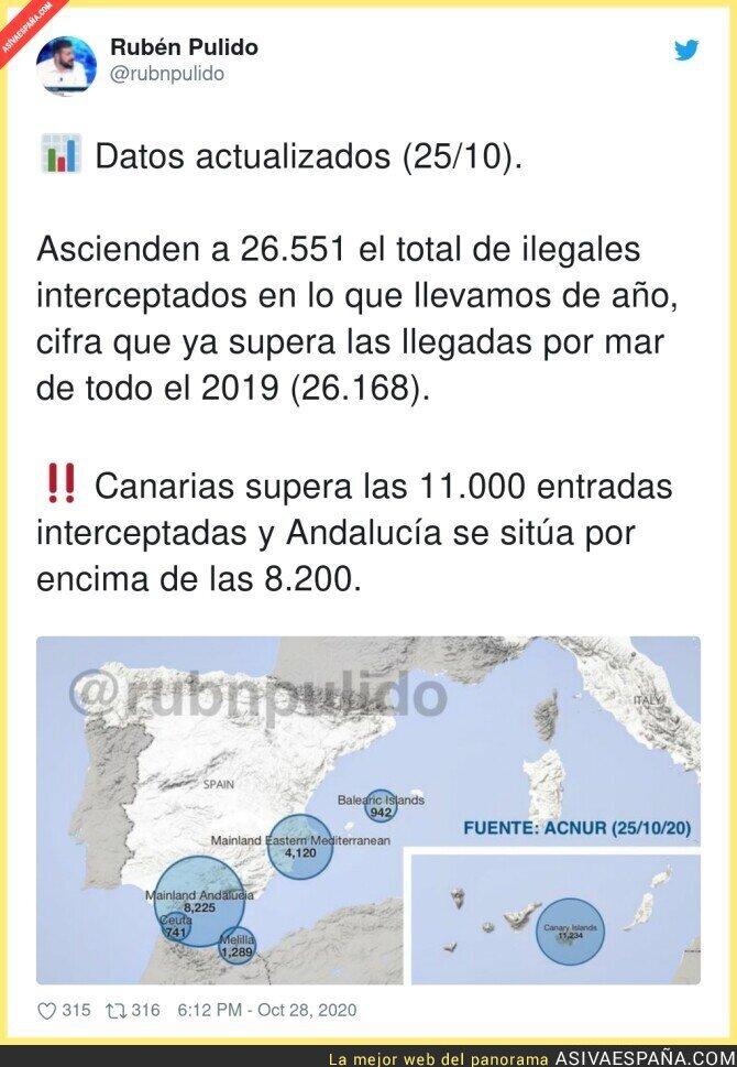 438978 - Tremendo dato de la gente que quiere entrar ilegalmente a España