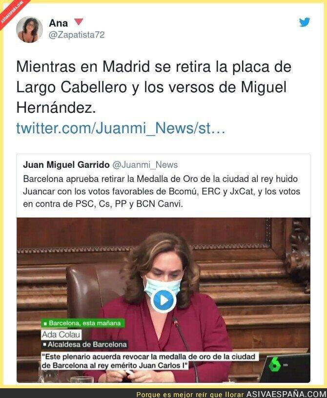 441481 - Juan Carlos I ya es repudiado en Barcelona