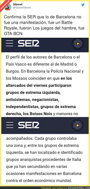 445855 - La que hubo liada en Barcelona es tremenda