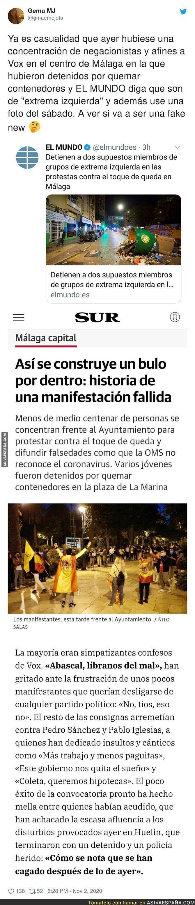 446748 - La noticia de El Mundo que es muy sospechosa de ser falsa para culpar a la extrema izquierda sin motivo