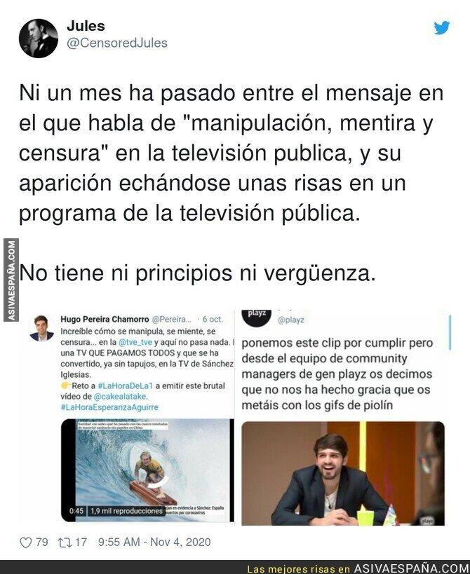 449229 - La poca vergüenza de Hugo Pereira