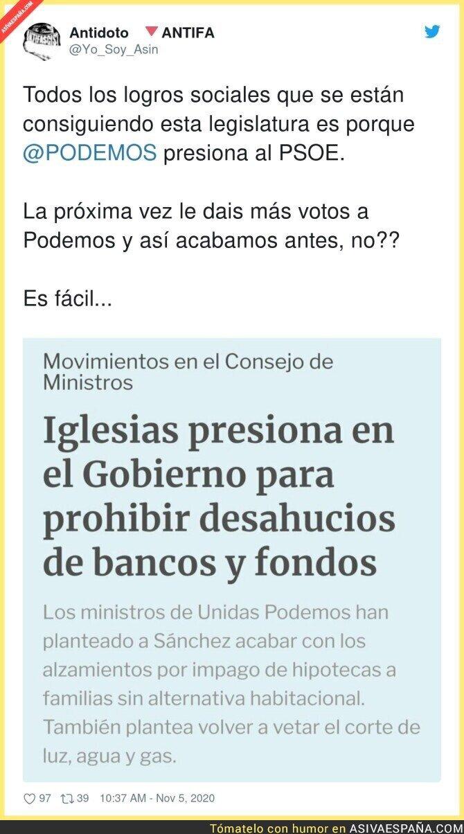 451072 - La gran labor de Pablo Iglesias en el Gobierno