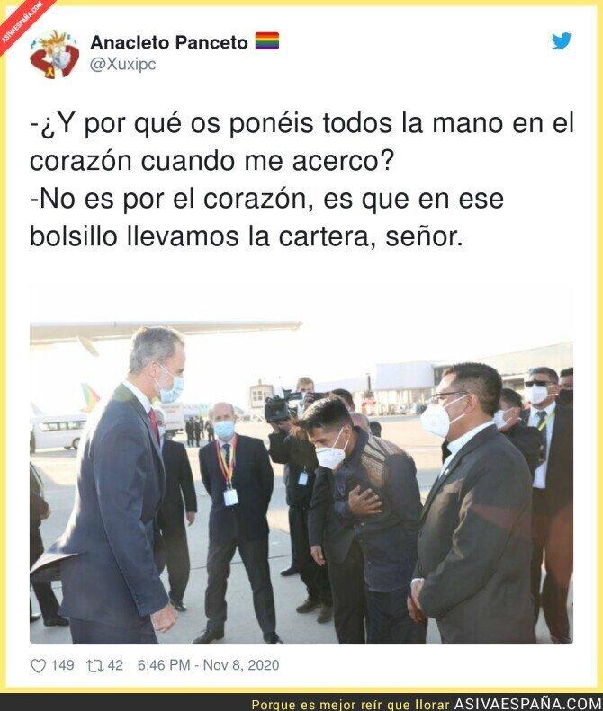 457038 - Bolivia extrema las precauciones con la presencia de la Casa Real