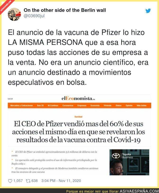 461422 - Polémico movimiento de acciones del CEO de Pfizer