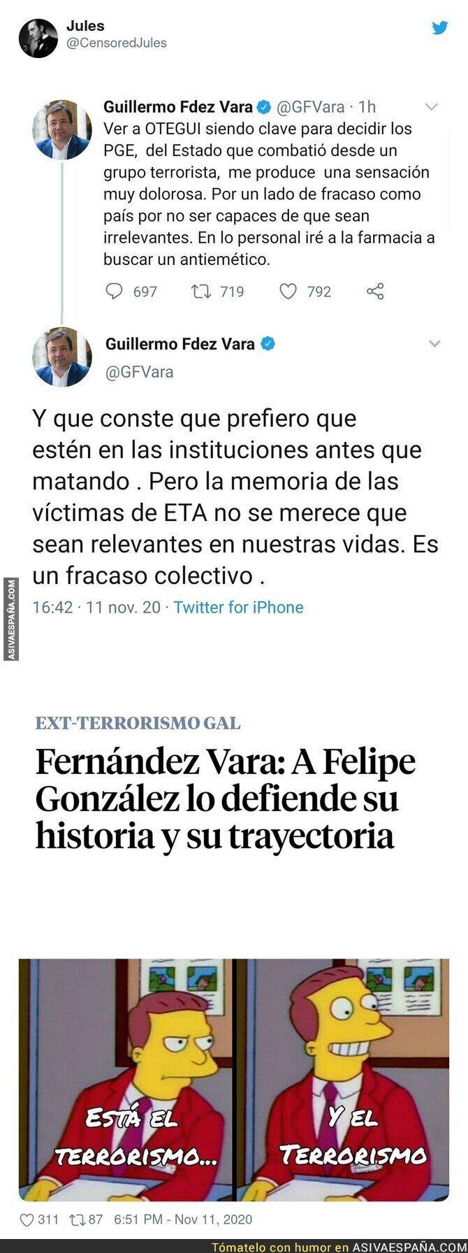 461893 - Fernández Vara y su decepción por los presupuestos generales del estad