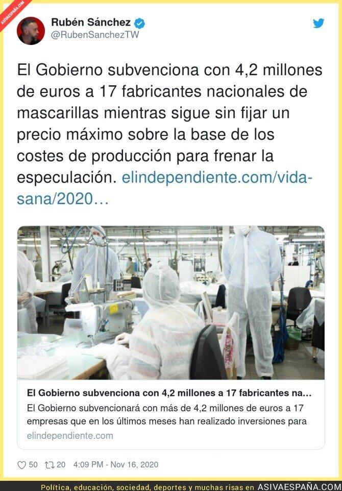468899 - El Gobierno debe poner mano dura contra los precios desorbitados de las mascarillas