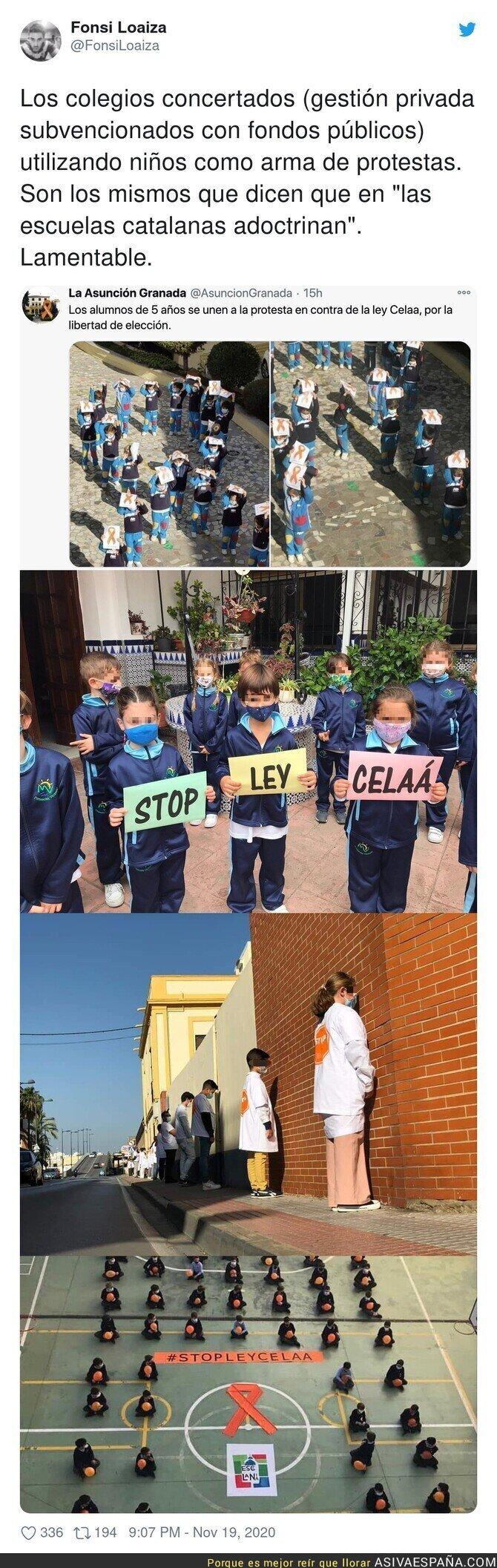 473660 - Atención a la adoctrinación de estos niños en escuelas