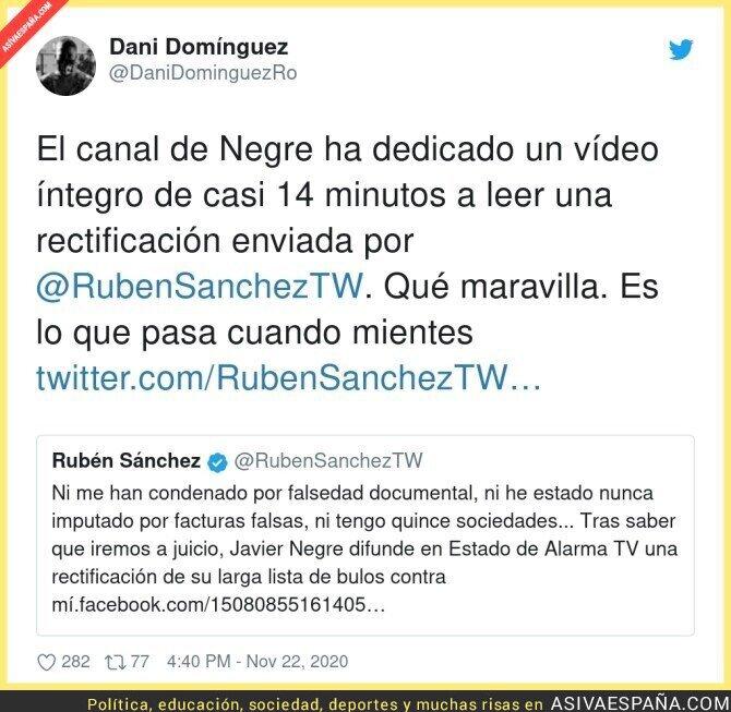 477307 - Rubén Sánchez gana al difusor de bulos Javier Negre