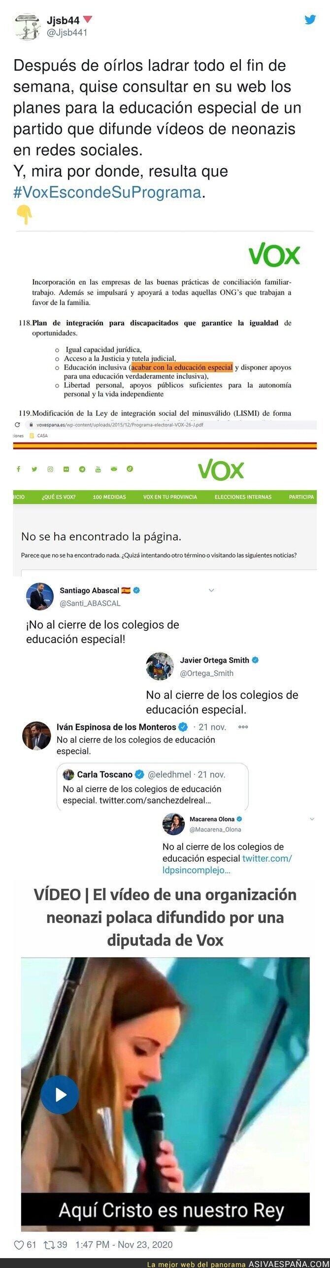 478854 - VOX es lo peor que ha pasado en la política española en toda su historia y todo esto lo demuestra