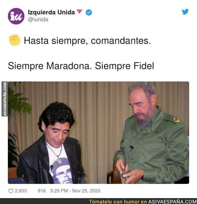 482286 - Izquierda Unida despide a Maradona