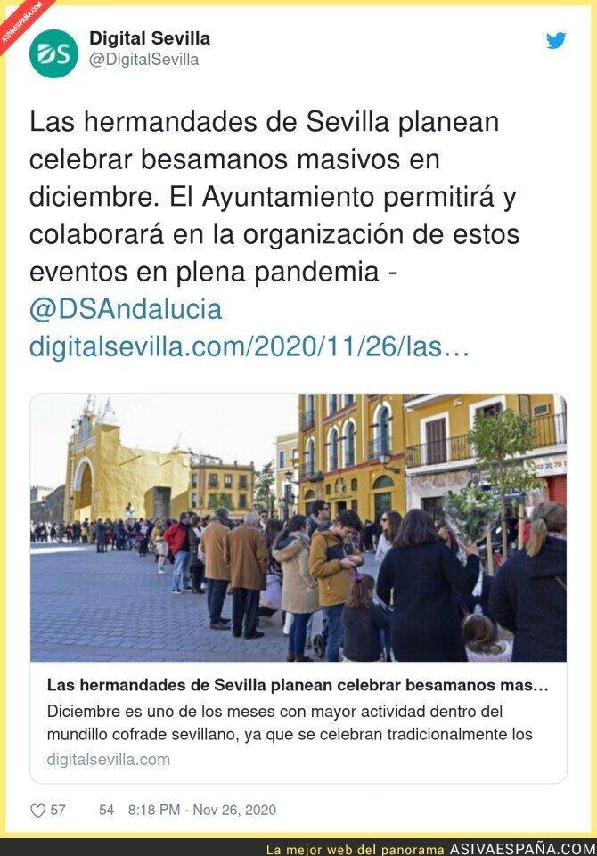 483792 - La locura de la religión llega a Sevilla en plena pandemia