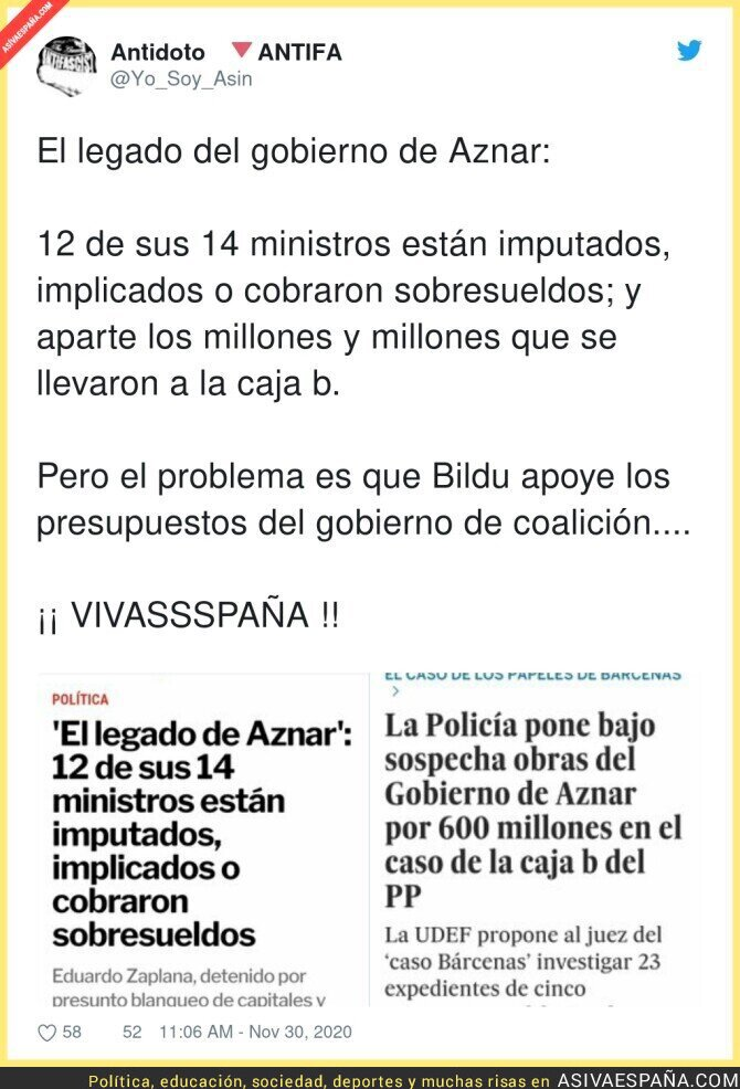 487646 - El Gobierno de Aznar era una mafia al completo