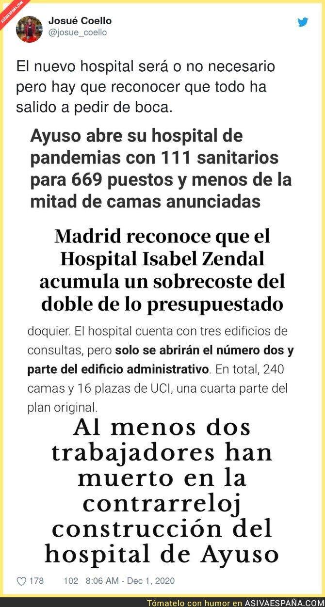 488801 - Todo un éxito el Hospital de pandemias de Isabel Díaz Ayuso