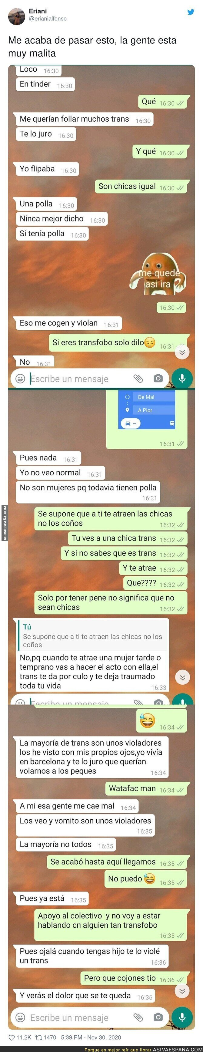 489225 - La transfobia es una enfermedad muy grave y para ejemplo este tío con esta conversación