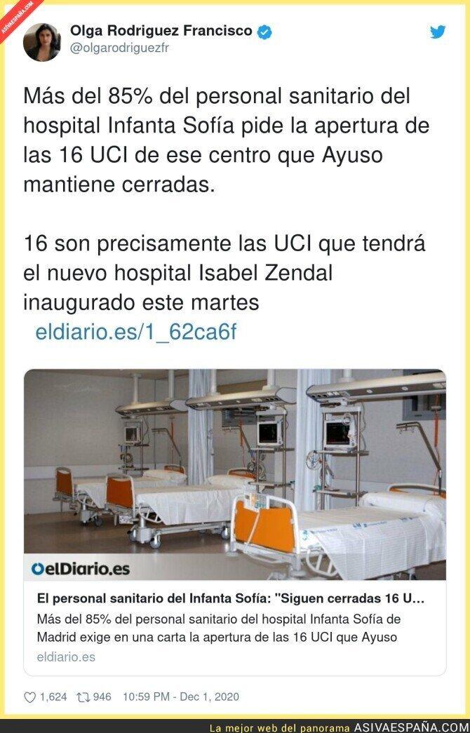 490611 - Si abre las UCI del Infanta Sofía no hay negocio