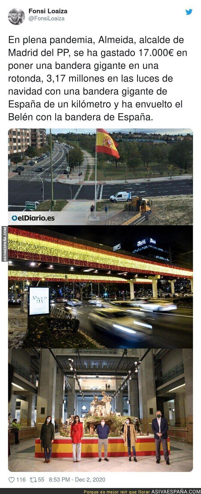 490955 - La bandera de España por todas partes para el nacimiento del niño Jesús nacido en Parla
