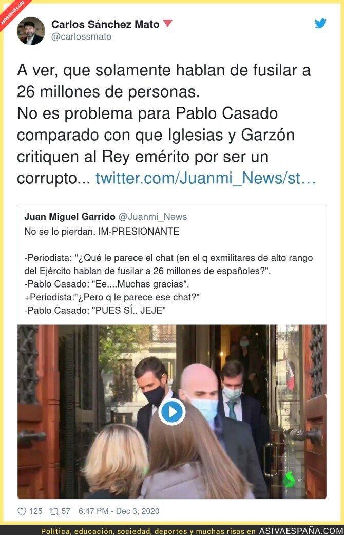 492340 - Pablo Casado es cómplice con el silencio