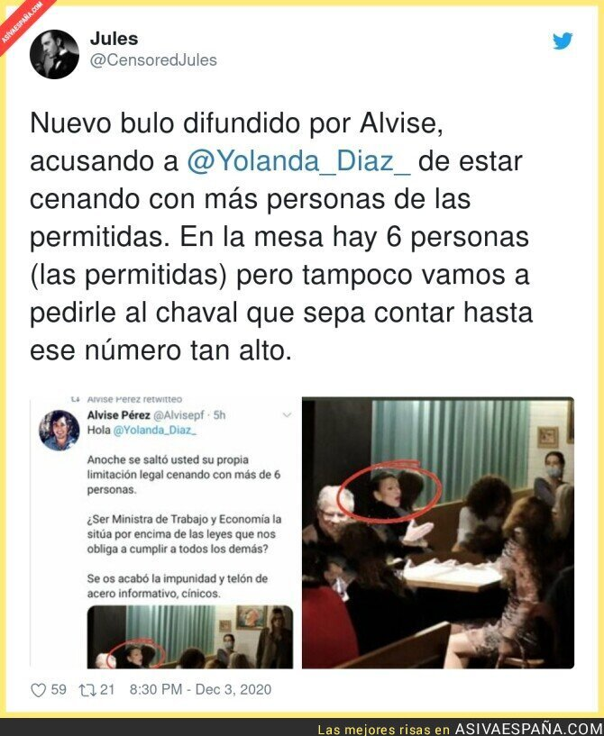 492390 - Alvise Pérez vuelve a difundir bulos