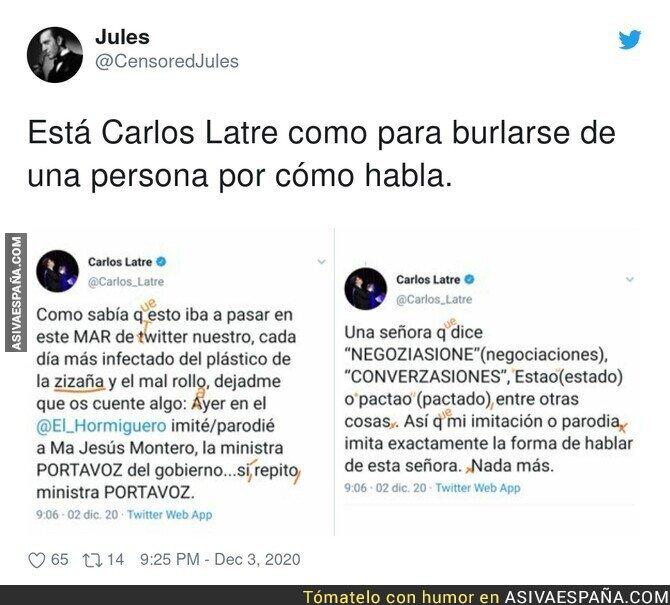 492481 - Carlos Latre se indigna por las críticas a su imitación