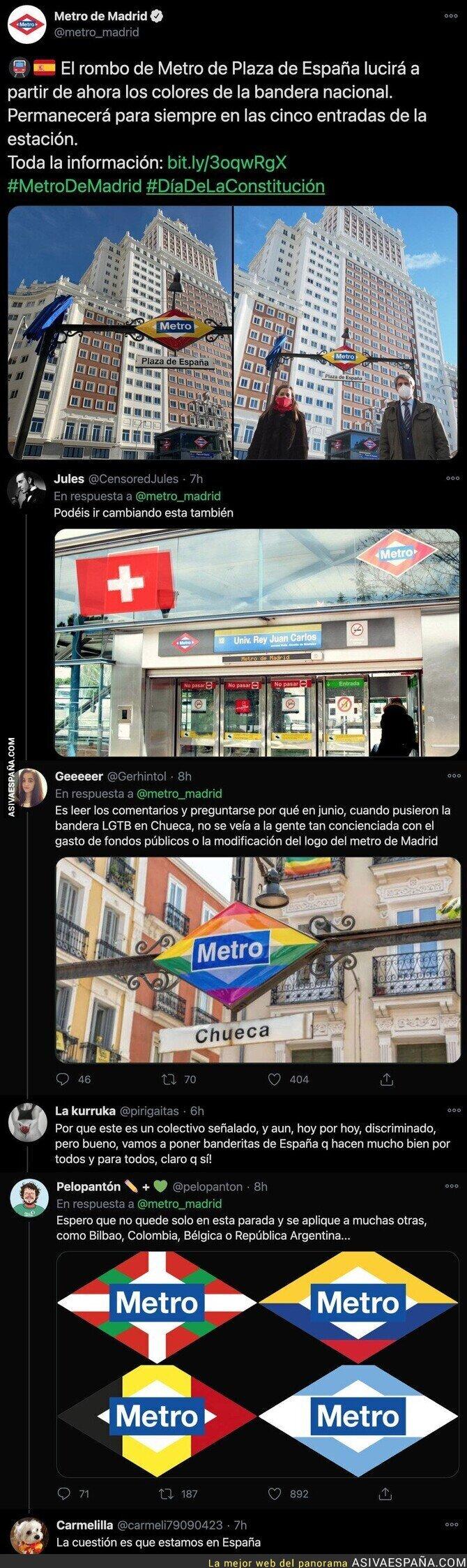 494513 - El PP vuelve a crear polémica por esto que ha hecho en el Metro de Plaza España en Madrid