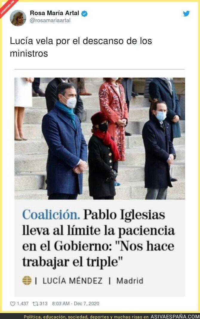 497112 - Pablo Iglesias hace trabajar a los ministros, menudo político más malvado