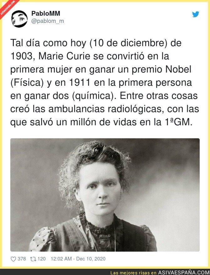 500270 - Marie Curie un nombre escrito con oro en la historia