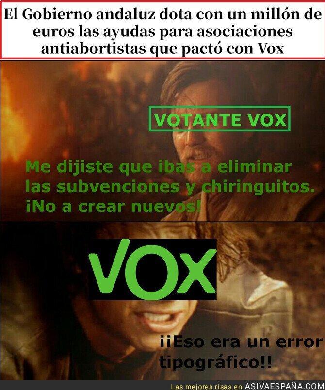 500919 - Cuando los votantes de VOX se dan cuenta de que vox subvenciona chiringuitos
