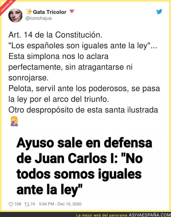 501253 - Isabel Díaz Ayuso se pasa por el forro la Constitución