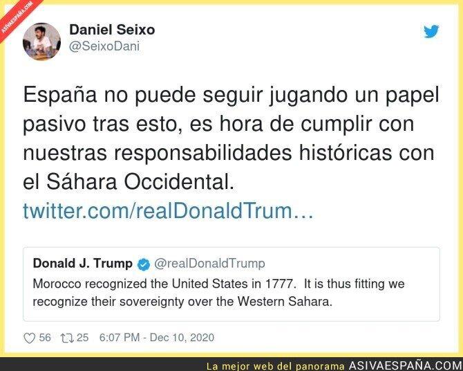 501477 - Donald Trump se posiciona en el conflicto de Marrucos y Sáhara