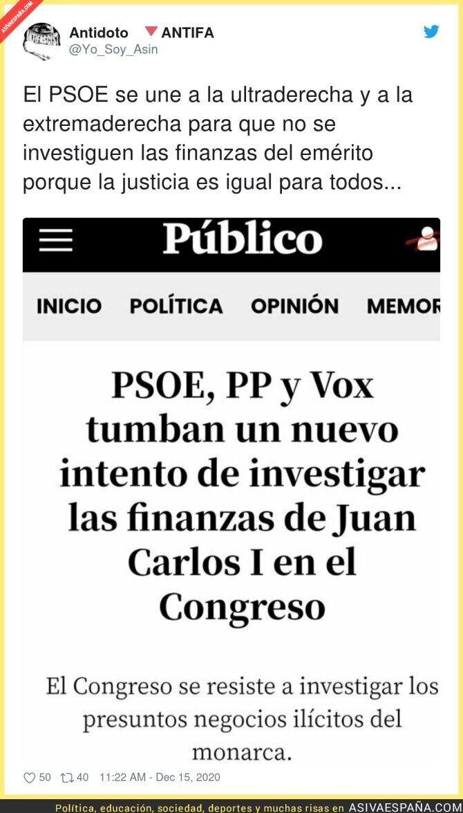 507066 - El PSOE se une a las corruptelas del Rey encubriéndolas