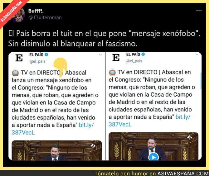 509643 - 'El País' ya da como normal el mensaje de odio de Santiago Abascal