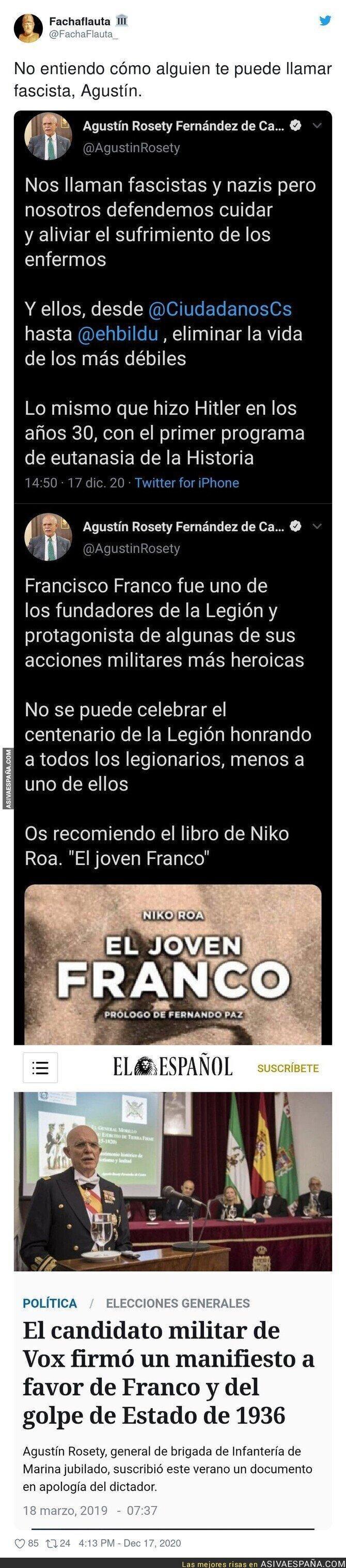 509810 - ¿Pero cómo pueden faltarle a este buen hombre que está a favor de Franco?