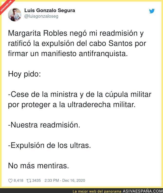 510258 - Margarita Robles debe dimitir inmediatamente de su cargo