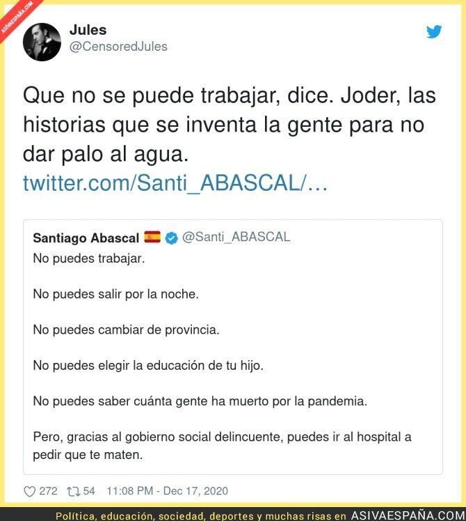 510654 - Santiago Abascal no ha podido trabajar en 44 años