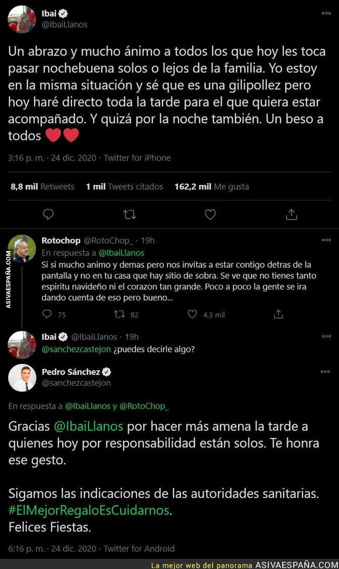518208 - Ibai Llanos consigue que el presidente Pedro Sánchez le responda a su tuit pidiendo responsabilidad a la gente