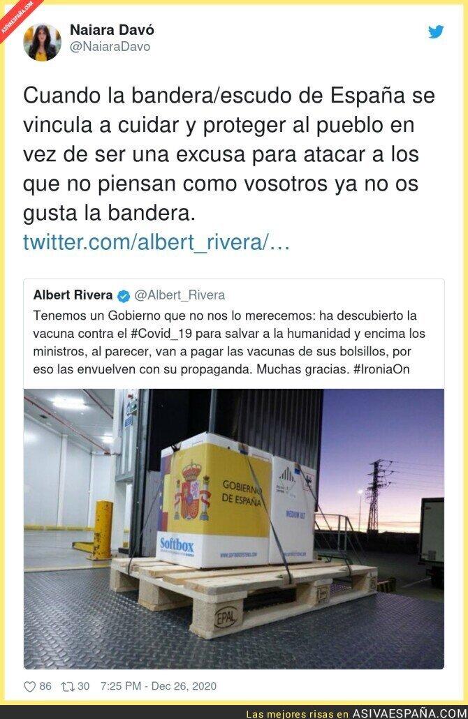 521332 - Albert Rivera también contra la bandera en las vacuans