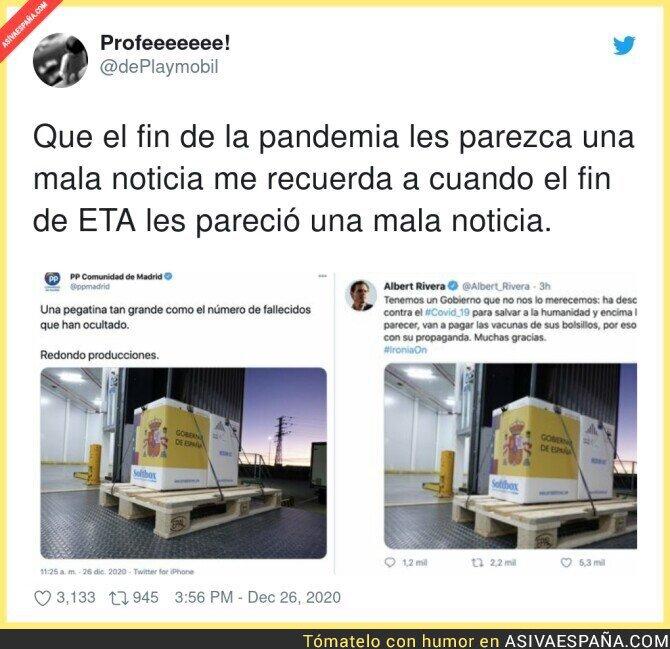 521701 - Así es la derecha de España con la llegada de la vacuna a España