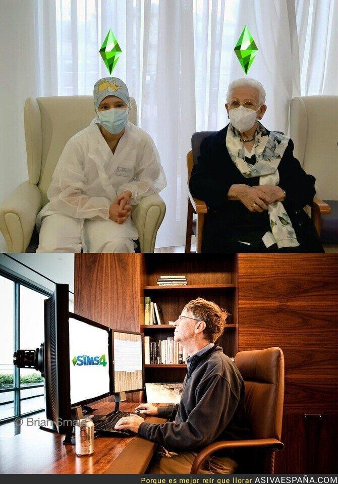 523622 - Mientras tanto, Bill Gates con la gente vacunada...