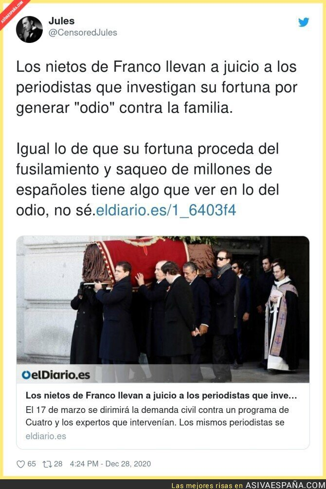 523762 - Las investigaciones no gustan a los Franco